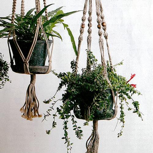 【Macrame Hanging Planter マクラメ編みプランター MPH005】グリーン 植木鉢 カバー 吊るす ガーデン 庭 ギフト■ 送料無料■ あす楽■ ラッピング無料