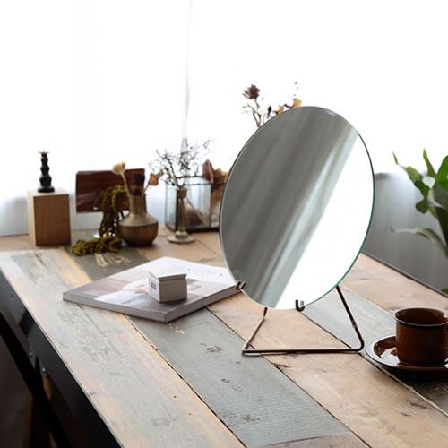【MOEBE MIRROR 30cm】北欧 ミラー 鏡 ムーベ 卓上ミラー シンプル ギフト■ ラッピング無料