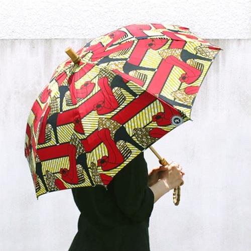 【SUR MER アフリカンバティック 晴雨兼用 長傘】シュールメール ファッション 傘 かさ カサ 紫外線防止加工■ 送料無料■ あす楽