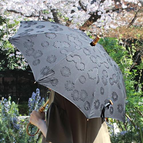 【SUR MER 40 カットジャガード花柄 長傘】シュールメール ファッション 傘 かさ カサ 紫外線防止加工■ 送料無料■ あす楽
