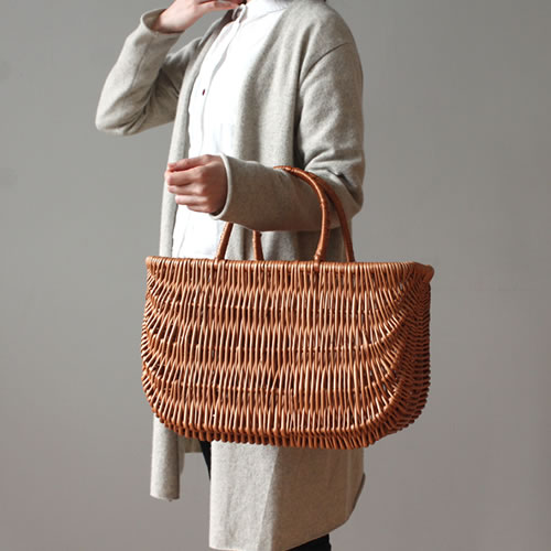 【Grozi ショッピングバスケット L】ファッション かごバッグ ラトビア グロッジ■ 送料無料
