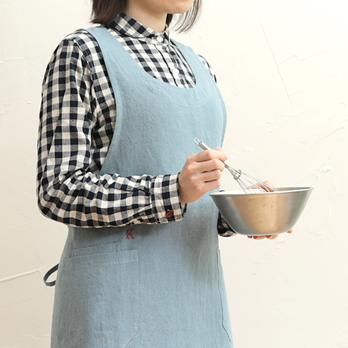 【kapoc Tabard】カポック エプロン 割烹着 リネン 麻 ギフト■ ラッピング無料