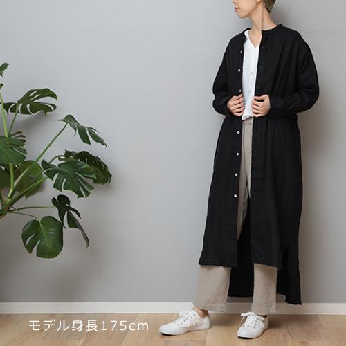 【LINEN TALES pine dress バンドカラーロングOP】ファッション シャツワンピース リネンテイルズ■ ラッピング無料