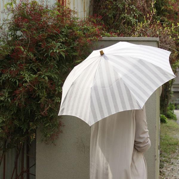 【SUR MER 日傘 ストライプ 折りたたみ】シュールメール ファッション 傘 かさ カサ 紫外線防止加工 シュルメール■ 送料無料■ あす楽■ ポイント10倍