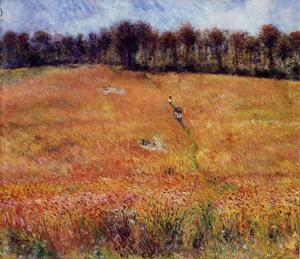 【送料無料】複製名画油絵 ルノワール作「草むらの小道」額付き 絵画サイズ: 30x40 cm