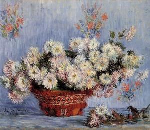 【送料無料】複製名画油絵 モネ作「籠のひな菊」額付き  絵画サイズ: 30x40 cm