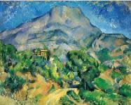 【送料無料】複製名画油絵 セザンヌ作「サント・ヴィクトワール山」額付き 絵画サイズ: 30x40 cm