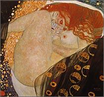 【送料無料】複製名画油絵 クリムト作「ダナエ」額付き 絵画サイズ: 50x60 cm