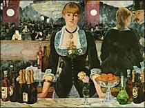 【送料無料】複製名画油絵 マネ作「フォリー=ベルジュール劇場のバー」額付き 絵画サイズ: 60x80 cm