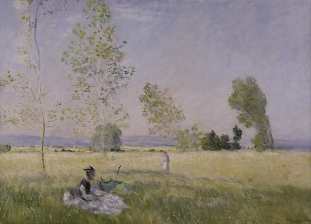 【送料無料】複製名画油絵 モネ作「夏(草原) 」  額付き 絵画サイズ: 50x60 cm