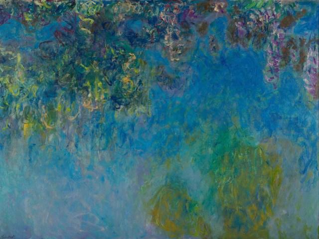 【送料無料】複製名画油絵 モネ作「藤」  額付き 絵画サイズ: 50x60 cm