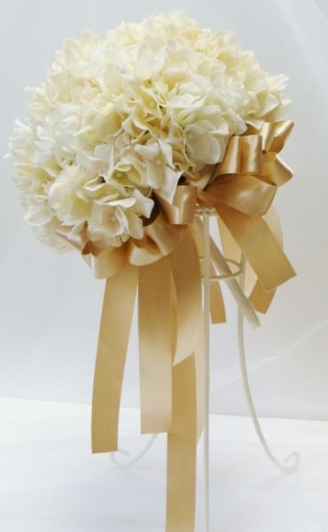 アジサイのラウンドブーケ ウェディングブーケ オーダーメイド ブライダル ウェディング 結婚式 ブーケ オーダーメイドブーケ プリザーブドフラワー 造花 ドライフラワー アジサイ ハイドランジア