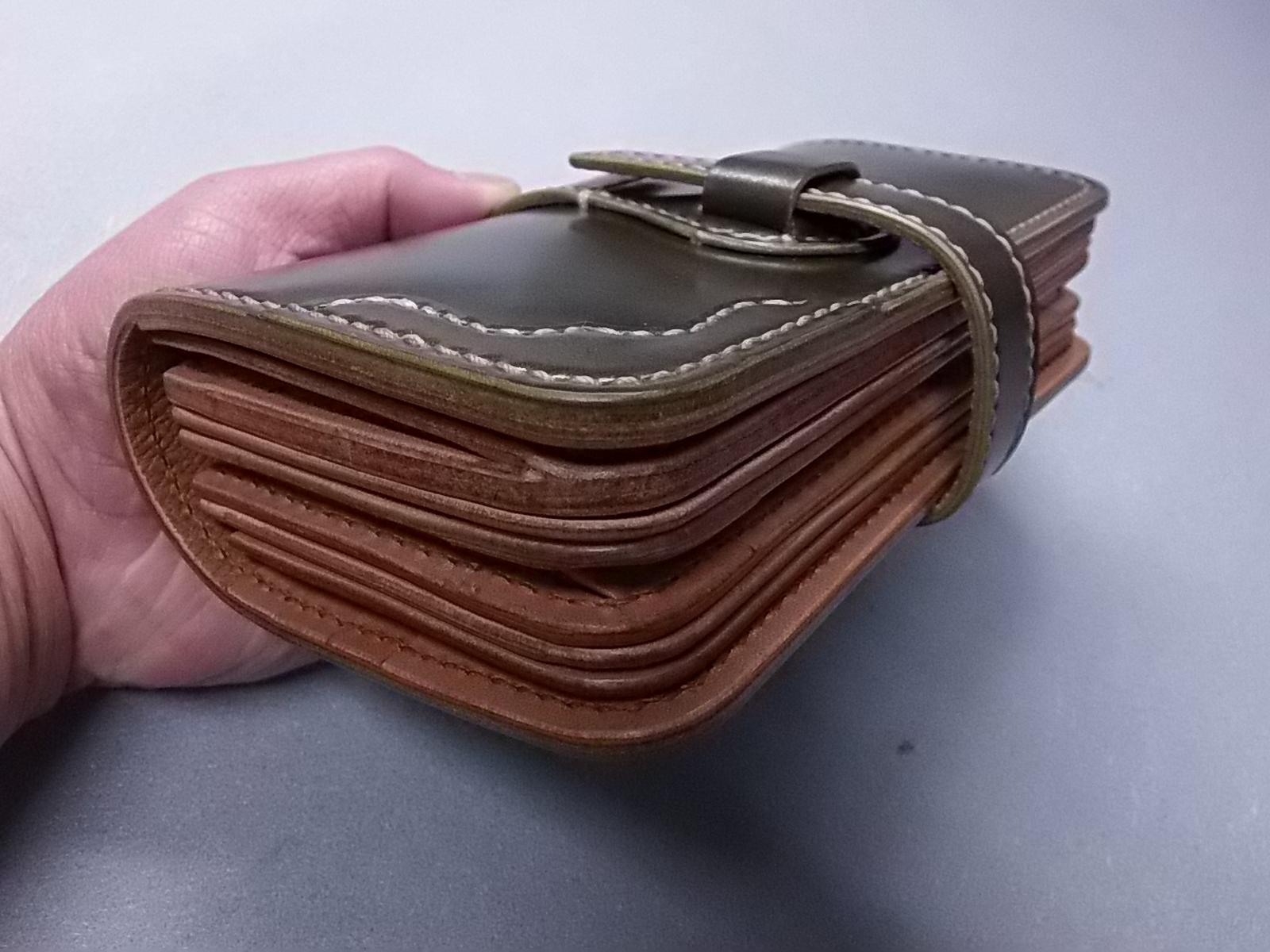 100万円は収まる極厚ウォレットの製作