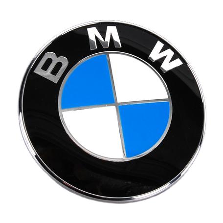 BMW純正部品(ドイツ直輸入) 78mm トランクリッドエンブレム セット (E39 E46ti/td リア) 51148203864