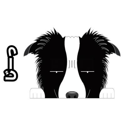 犬種多数有 じーっと見てます かわいい オリジナル 再再販 犬 ステッカー 見てまステッカー ボーダーコリー たれ耳 車 犬ステッカー 窓 ビッグサイズ ドッグ セール価格 カーステッカー 玄関 犬種別 グッズ シール 名入れ 見てます