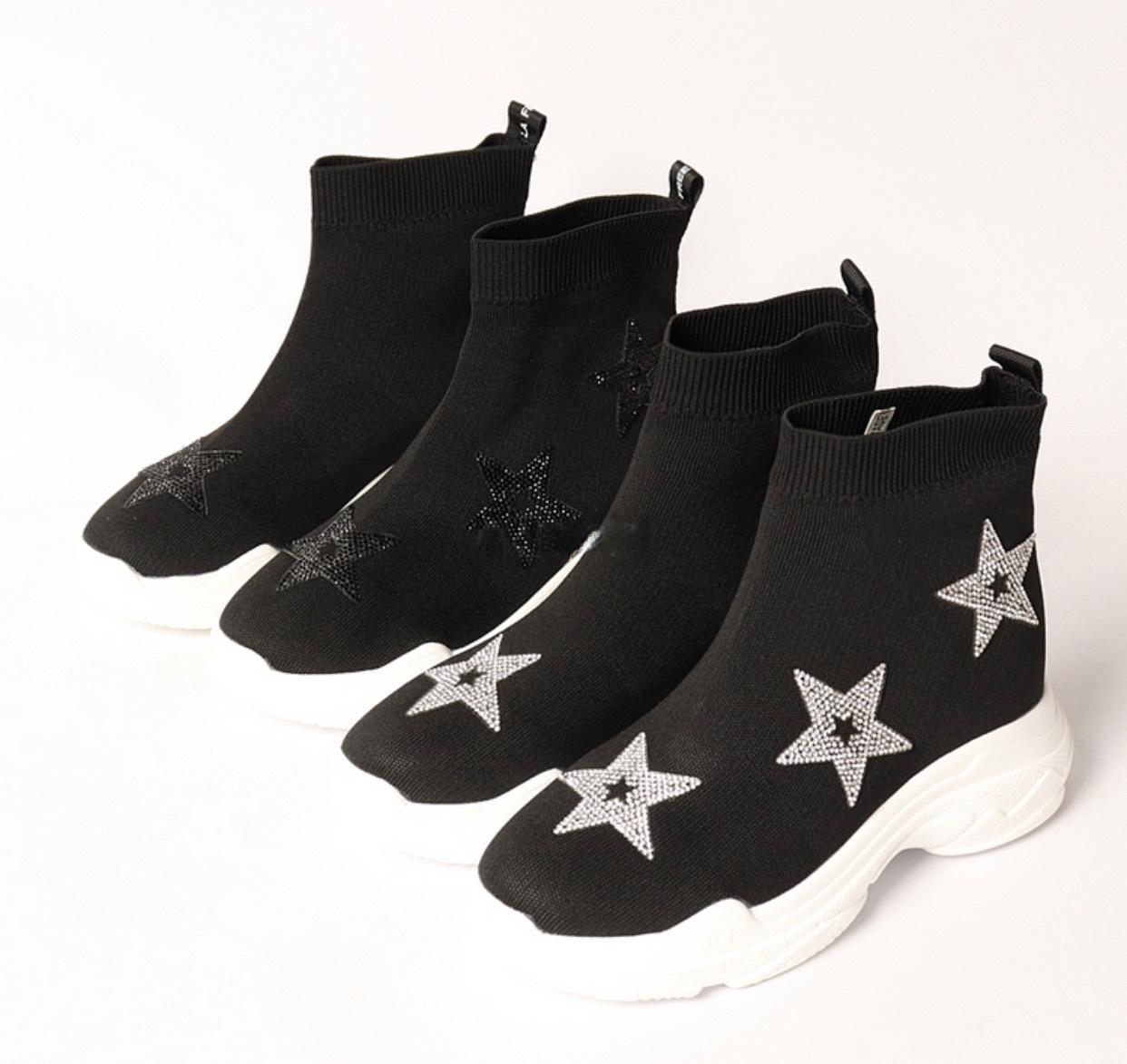 脚長効果ありの1点です 通販 《サイズ交換無料》脚長 倉庫 ストレッチ boots ブーツ 韓国グッズ 04-9006 韓国 ソックススニーカー