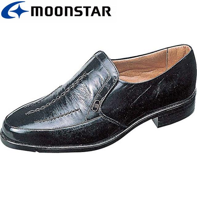 ムーンスター ビジネスシューズ MB123 日本製 革靴 スリッポン メンズ MS シューズ
