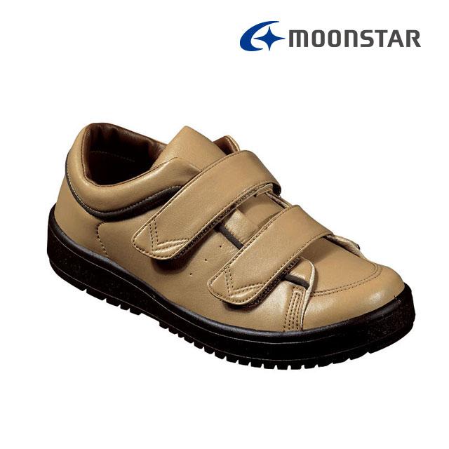 ムーンスター レディース リハビリ 介護靴 片足販売 Vステップ05 右足のみ ベージ 装具対応シューズ MS シューズ