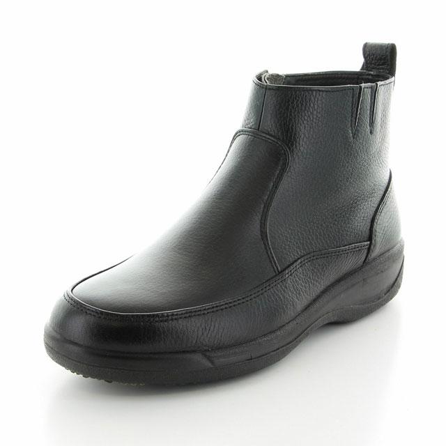 ムーンスター メンズ サイドゴアブーツ SPH8990WSR ブラック 3E 雪寒地向け 防滑 スペラン底 本革 国産 ブーツ MS シューズ