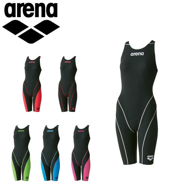 送料無料 大決算セール アリーナ 競泳 水着 ジュニア AQUAFORCE FUSION-II セールSALE%OFF ハーフスパッツ FINA承認モデル arena 女の子 オープンバック ARN7010WJ