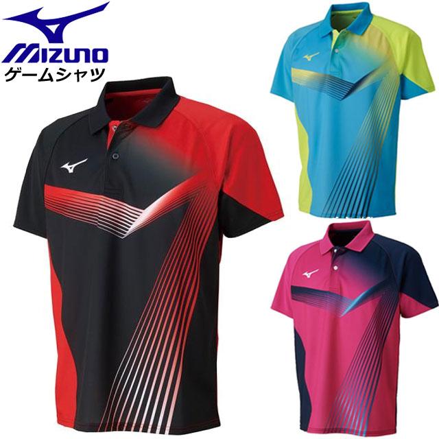 ミズノ 卓球 ウエア ゲームシャツ MIZUNO 82JA8011 テーブルテニス 吸汗速乾性 男女兼用