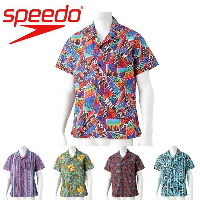 スピード speedo メンズ ユニセックス ボンダイ プリント アロハ シャツ SD18S41