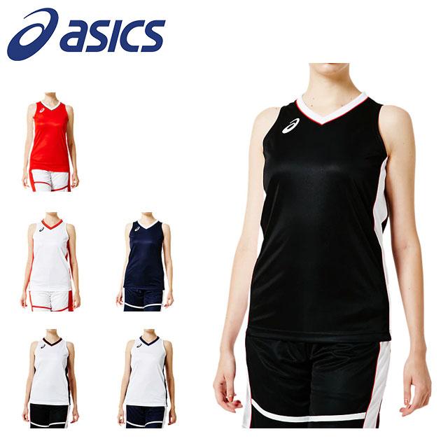 3 980円 税込 以上ご購入で送料無料 アシックス レディース バスケットボール 記念日 シャツ 袖なし W'Sゲームシャツ UVケア asics 吸汗速乾 新作続 ノースリーブ 2062A018
