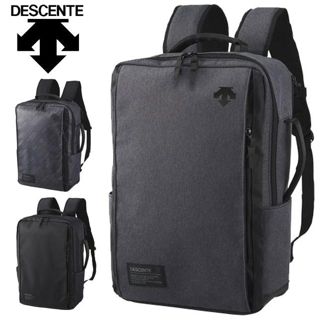 デサント リュック ファンクショナル バックパック DMANJA10 DESCENTE メンズ レディース PCポケット 多数のポケット配備 スポーツ・ビジネス、どちらのシーンでも使える機能バッグ