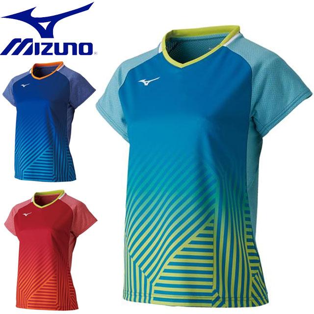 ミズノ テニス ゲームシャツ ラケットスポーツ MIZUNO 72MA9202 トレーニングウエア 半袖シャツ トップス ウエア レディース 一般用