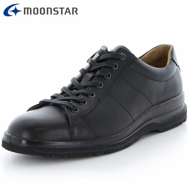 ムーンスター シューズ メンズ SPH7321TSR ブラック 42293376 MS 雪寒地向け カジュアルシューズ 4E ワイド設計 日本製 外羽根タイプ 内側のファスナー付き 靴