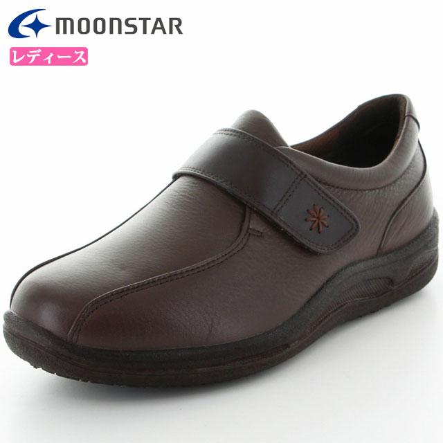 ムーンスター シューズ レディース スポルス レディース SP2730WSR ダークブラウンコンビ 42324413 MS 雪寒地向け 本革 コンフォートシューズ 履くほどに足に柔らかくフィット 撥水加工 4E ワイド 靴