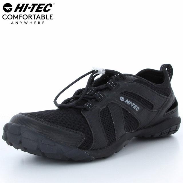 ハイテック シューズ メンズ HT SDU03 KAPUA ブラック 53143156 MS ウォーターシューズ 水陸両用 コードストッパーによる調節機能 脱ぎ履きしやすい仕様 水辺でのアクティビティやスポーツにおすすめ
