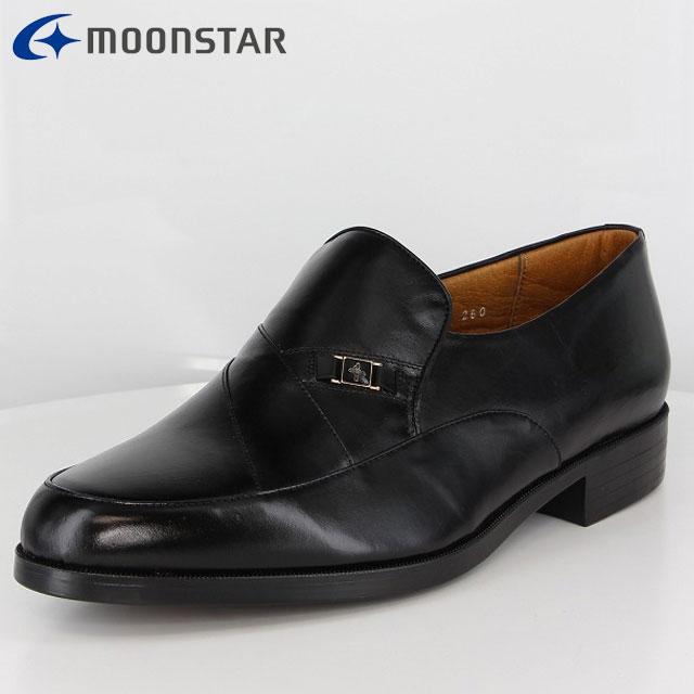 ムーンスター ビジネスシューズ メンズ MB1242 ブラック 41212421 MS 軽くて柔軟性があり カンガルーレザー 柔らかな履き心地 幅広 4E 靴 日本製