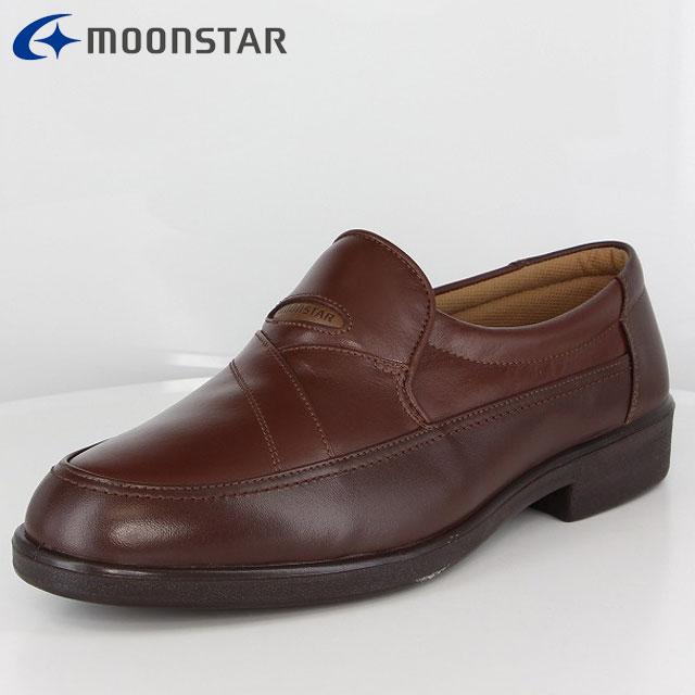 ムーンスター ビジネスシューズ メンズ SP3441A ダークブラウン/ブラウン 42234432 MS 幅広 4E コンフォートレザーシューズ 柔らかく曲がり、ソフトな履き心地 撥水加工 軽量 靴