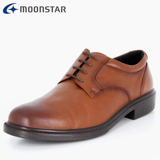 ムーンスター ビジネスシューズ メンズ SPH4940 ブラウン 42293143 MS 軽くて足に快適にフィット ソフトな履き心地 撥水加工 プレーンタイプ 靴