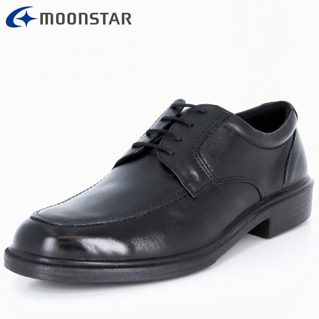 ムーンスター ビジネスシューズ メンズ SPH4941 ブラック 42293156 MS 軽くて足に快適にフィット Uチップタイプ ムレを考慮した設計 撥水加工 靴