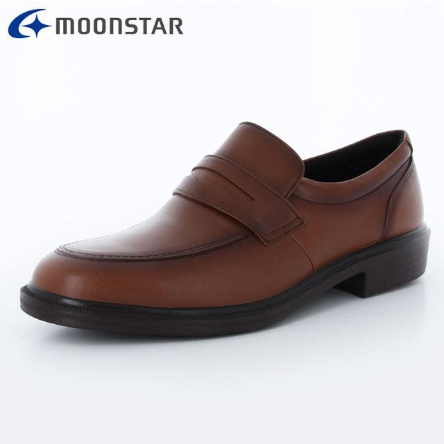ムーンスター ビジネスシューズ メンズ SPH4942 ブラウン 42293163 MS ローファータイプ 軽くて足に快適にフィット ソフトな履き心地 撥水加工 靴