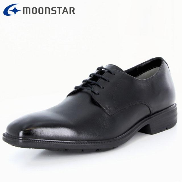 ムーンスター ビジネスシューズ メンズ SPH4610 B ブラック 42293206 MS 防水×防滑 プレーンタイプ 擦り減りにくい仕様 雨の日も快適 靴