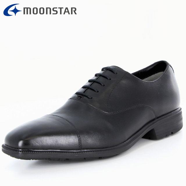 ムーンスター ビジネスシューズ メンズ SPH4611 B ブラック 42293216 MS ストレートチップタイプ 防水×防滑 雨の日も快適 冠婚葬祭におすすめ 擦り減りにくい仕様 靴