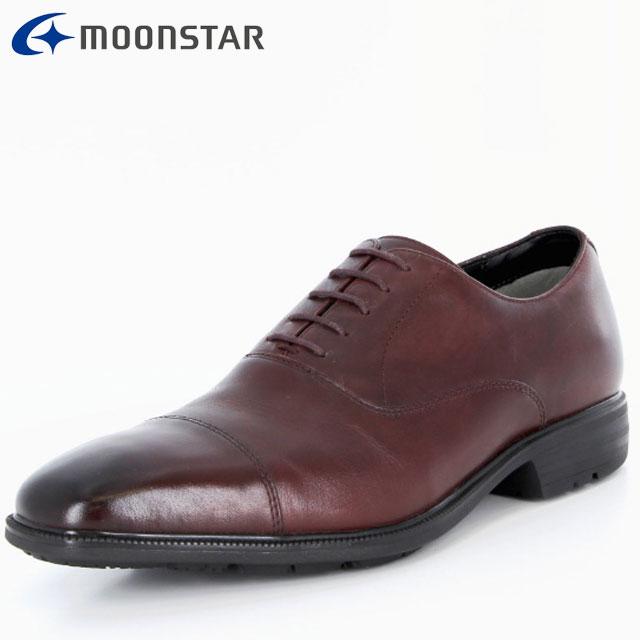 ムーンスター ビジネスシューズ メンズ SPH4611 B ダークブラウン 42293219 MS ストレートチップタイプ 防水×防滑タイプ 雨の日も快適 擦り減りにくい仕様 靴