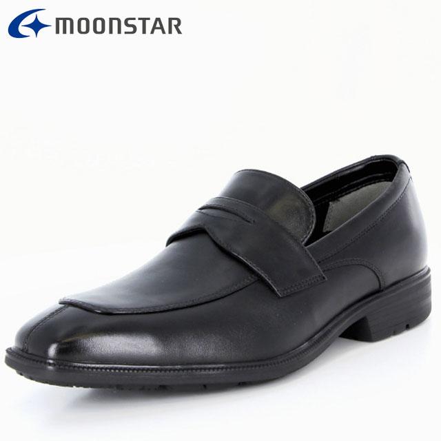 ムーンスター ビジネスシューズ メンズ SPH4612 B ブラック 42293226 MS ローファータイプ 防水×防滑 雨の日も快適 擦り減りにくい仕様 靴