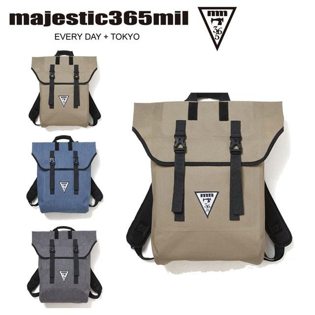 マジェスティックミル メンズ レディース リュック 防水 ロールトップ 2WEY バッグ 約18L ユニセックス majestic365mil MM0003