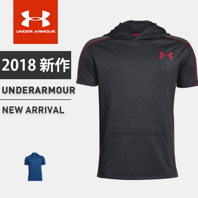 e40a2f83b Under Armour Boys Tech Short Sleeve Hoodie Under Armour Apparel 1318202  Sports & Fitness
