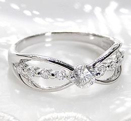 pt900 0.45ct ダイヤモンド リング