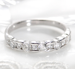 k18WG ダイヤモンド リング
