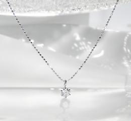 K18WG ダイヤモンド ペンダント
