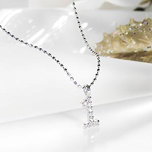 K18WG 数字 ダイヤモンド ネックレス 【送料無料】【品質保証書】【代引手数料無料】【ラッピング済み】