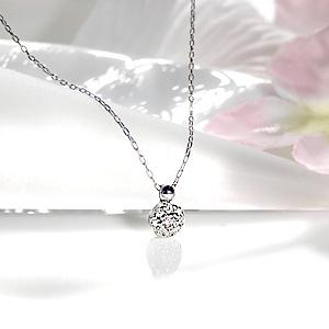 K10WG ダイヤモンド ネックレス 【送料無料】【品質保証書】【代引手数料無料】【ラッピング済み】