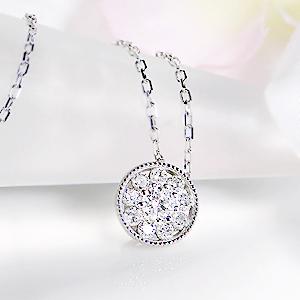 K18WG ダイヤモンドペンダントジュエリー・アクセサリー・ネックレス・ペンダント・ダイヤモンド・サークル・K18・18金・送料無料・品質保証書・代引手数料無料・プレゼント・ラッピング済み