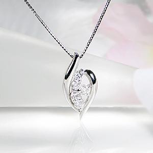 K18WG 0.30ct ダイヤモンド ネックレス 【送料無料】【品質保証書】ジュエリー ペンダント 18金 ホワイトゴールド ダイヤ 18k 人気 ダイヤ ネックレス ダイヤモンド ペンダント